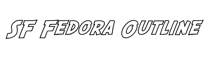 SF Fedora Outline  Free Fonts Download