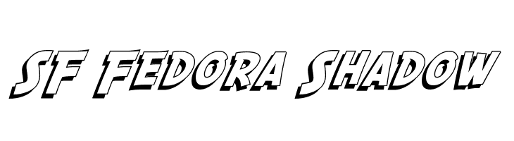 SF Fedora Shadow  Free Fonts Download