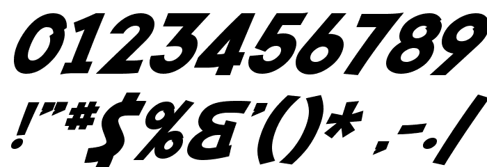 SF Fedora Font OTHER CHARS