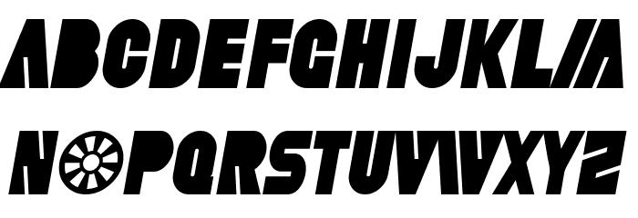 SF Fortune Wheel Condensed Italic फ़ॉन्ट अपरकेस