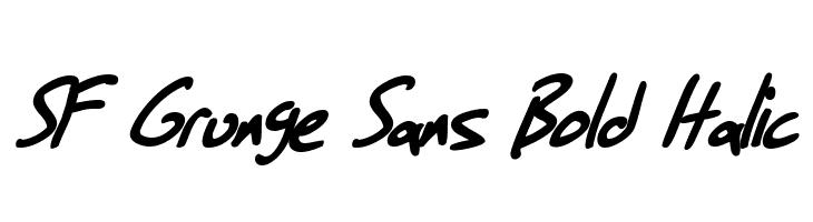 SF Grunge Sans Bold Italic  Скачать бесплатные шрифты