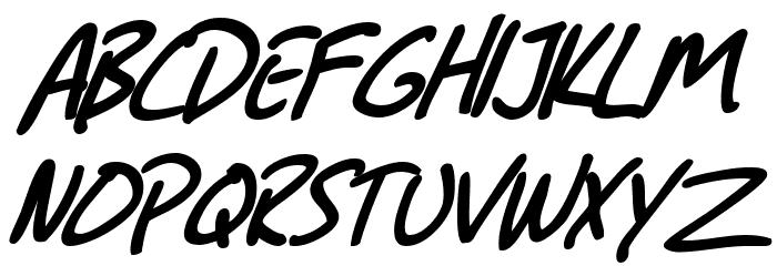 SF Grunge Sans Bold Italic फ़ॉन्ट अपरकेस
