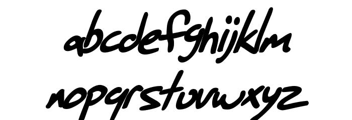 SF Grunge Sans Bold Italic फ़ॉन्ट लोअरकेस