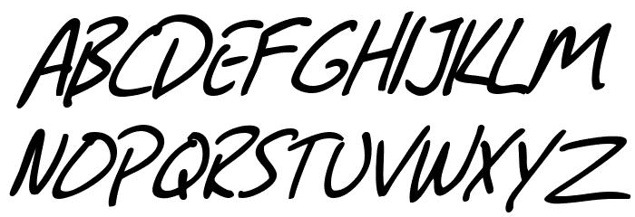 SF Grunge Sans Italic Font UPPERCASE