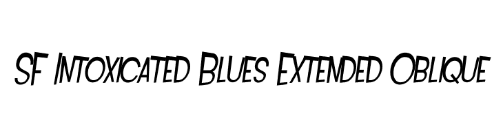 SF Intoxicated Blues Extended Oblique  Free Fonts Download