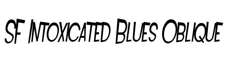 SF Intoxicated Blues Oblique  Free Fonts Download