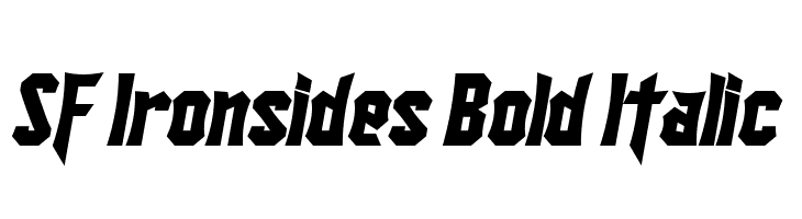 SF Ironsides Bold Italic  Free Fonts Download
