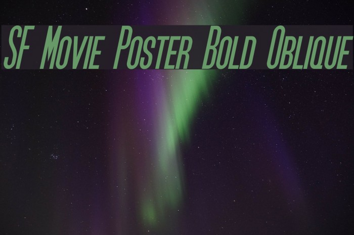 sf movie poster bold oblique font