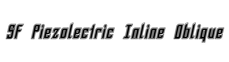 SF Piezolectric Inline Oblique  नि: शुल्क फ़ॉन्ट्स डाउनलोड
