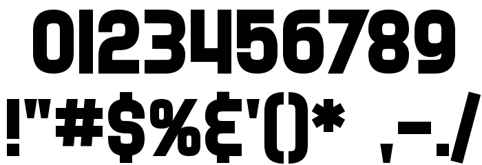 SF Speedwaystar Bold Font OTHER CHARS
