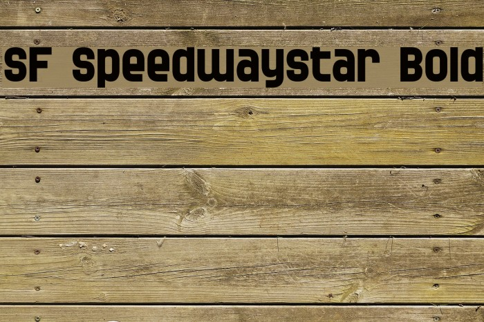 SF Speedwaystar Bold Font examples