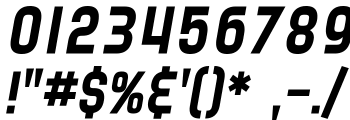 SF Speedwaystar Italic Font OTHER CHARS
