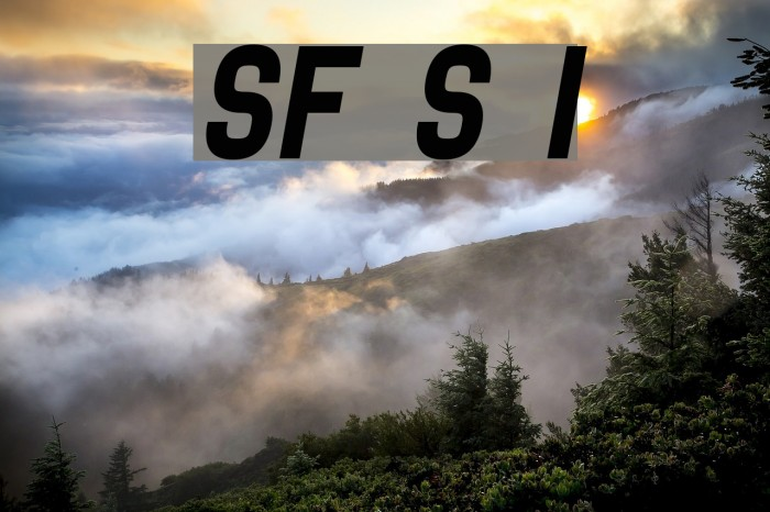 SF Speedwaystar Italic Font examples