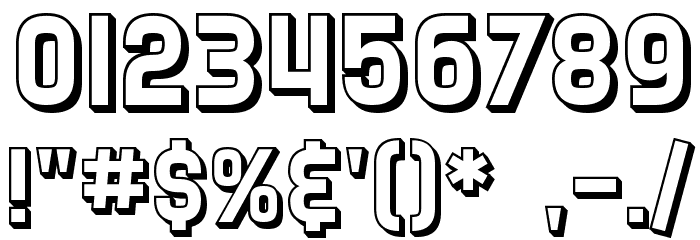 SF Speedwaystar Shaded Font OTHER CHARS
