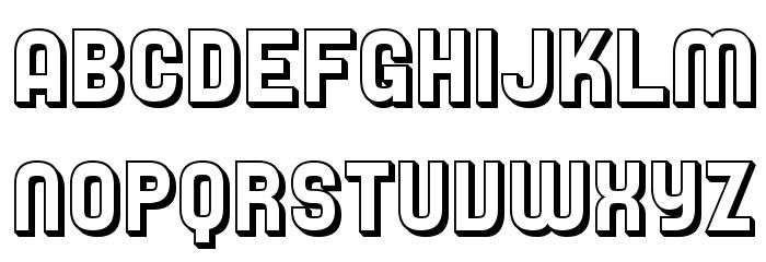 SF Speedwaystar Shaded Font UPPERCASE