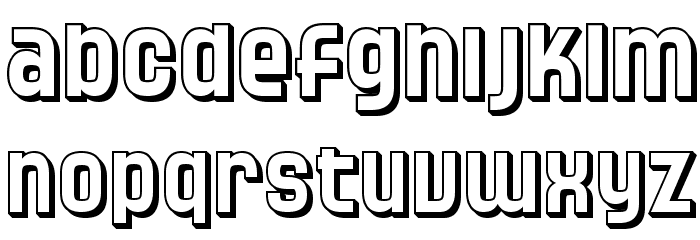 SF Speedwaystar Shaded Font LOWERCASE