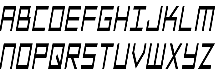 SF Square Head Condensed Italic Font UPPERCASE