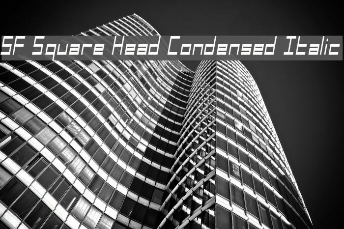 SF Square Head Condensed Italic Font examples