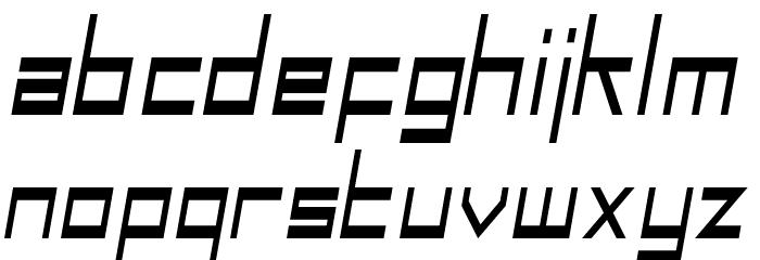 SF Square Head Condensed Italic Font LOWERCASE