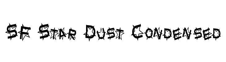 SF Star Dust Condensed  Frei Schriftart Herunterladen