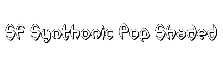 SF Synthonic Pop Shaded  les polices de caractères gratuit télécharger