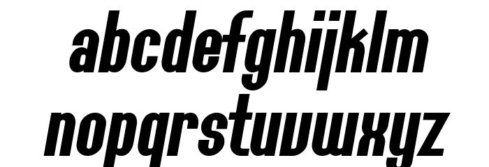 SF Willamette Bold Italic Font LOWERCASE