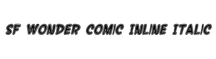 SF Wonder Comic Inline Italic  नि: शुल्क फ़ॉन्ट्स डाउनलोड