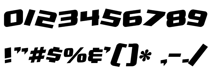 SF Zero Gravity Bold Italic Fonte OUTROS PERSONAGENS
