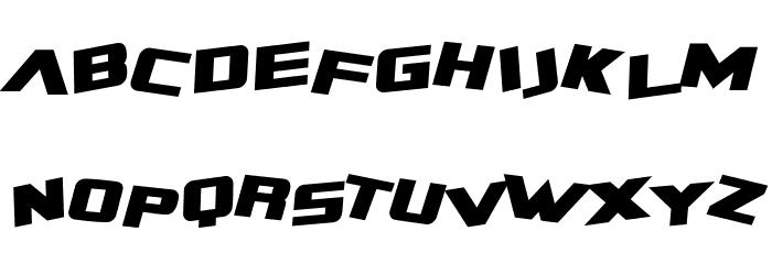 SF Zero Gravity Bold Italic Font UPPERCASE