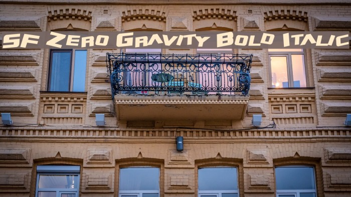 SF Zero Gravity Bold Italic Font examples
