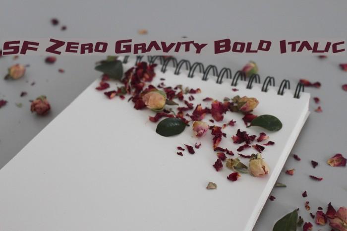 SF Zero Gravity Bold Italic Fonte examples