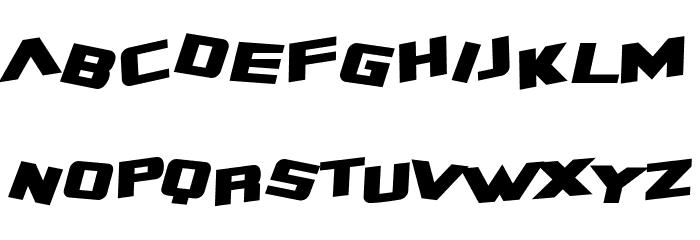 SF Zero Gravity Bold Italic Font LOWERCASE