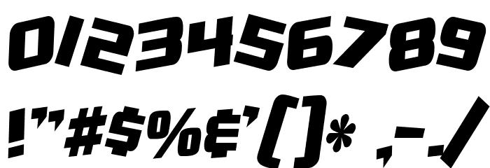 SF Zero Gravity Condensed Bold Italic Font OTHER CHARS