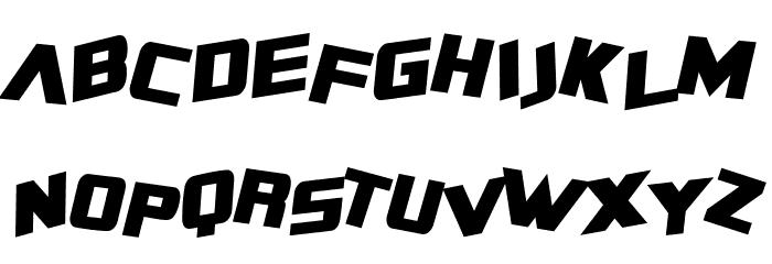 SF Zero Gravity Condensed Bold Italic Font UPPERCASE