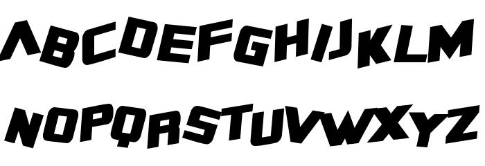 SF Zero Gravity Condensed Bold Italic Font LOWERCASE