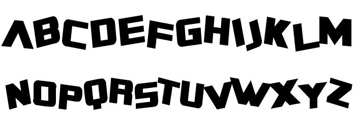 SF Zero Gravity Condensed Bold Font UPPERCASE