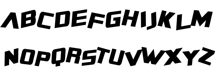 SF Zero Gravity Condensed Italic Font UPPERCASE