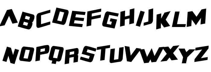 SF Zero Gravity Condensed Italic Font LOWERCASE