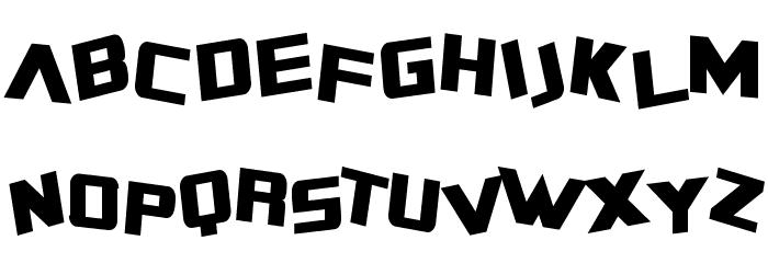 SF Zero Gravity Condensed Font UPPERCASE