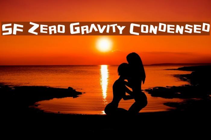 SF Zero Gravity Condensed Fonte examples