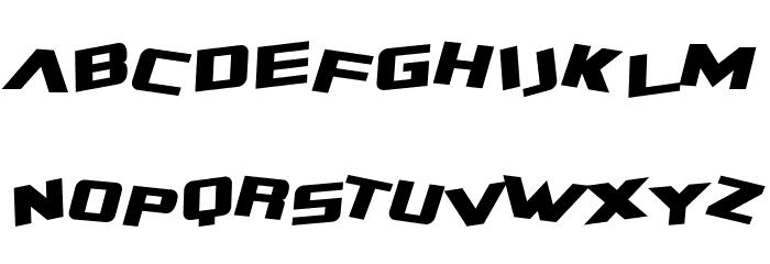 SF Zero Gravity Italic Font UPPERCASE