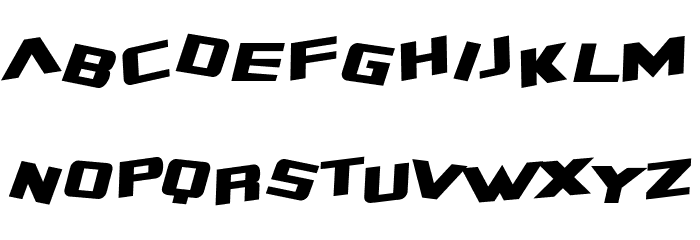 SF Zero Gravity Italic Font LOWERCASE
