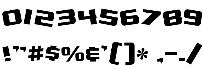 SF Zero Gravity Font OTHER CHARS