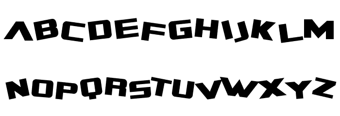 SF Zero Gravity Font UPPERCASE