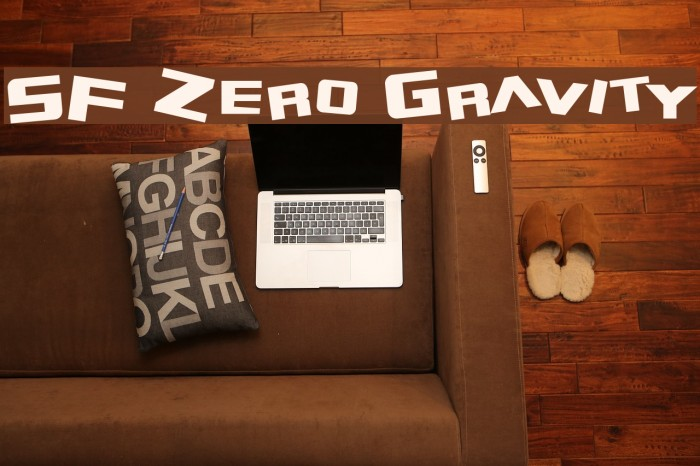 SF Zero Gravity Font examples