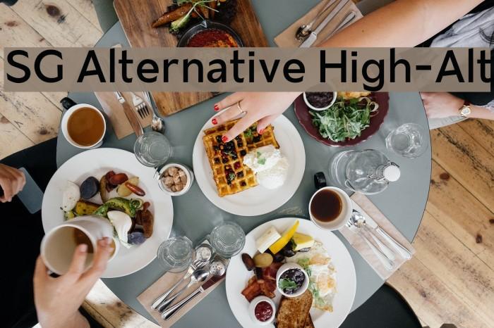 SG Alternative High-Alt Schriftart examples