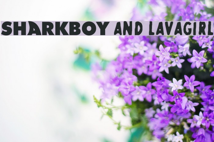 SHARKBOY and lavagirl Font examples