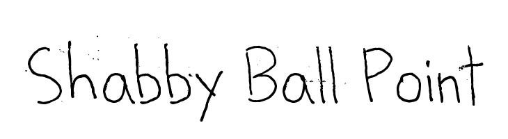 Shabby Ball Point  font caratteri gratis