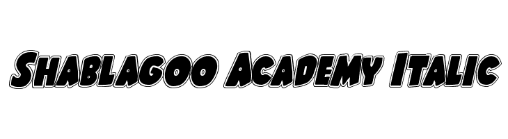 Shablagoo Academy Italic Font