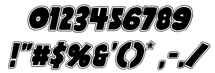 Shablagoo Academy Italic Font Alte caractere